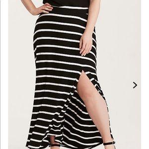Torrid striped long skirt size 0